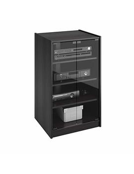 Sonax Cr 2360 Cranley Wide Enclosed Component Stand, 21 Inch, Ravenwood Black by Sonax