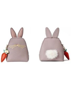 Kate Spade Hop To It Bunny Rabbit Coin Purse Pale Pink Nwt by Kate Spade New York