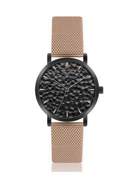 Matte Black & Rose Gold Tone Steel Watch by Victoria Walls