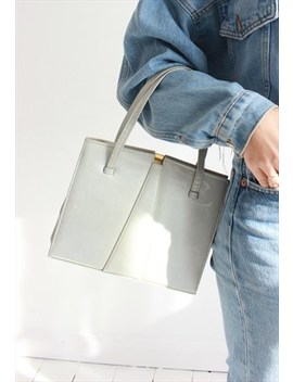 Vintage 60s Off White /Light Grey Patent Handbag by Dark Paradise Vintage