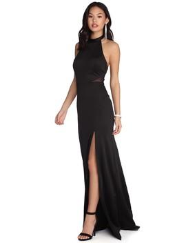 Natalia Formal High Slit Dress by Windsor