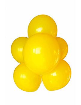 Babyjoyballoons 11' Yellow Color Latex Balloon For Party Decoration, 100 Pieces (Yellow) by Babyjoyballoons