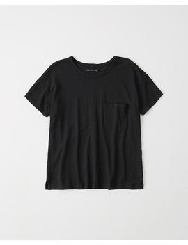 Drop Shoulder Pocket Tee by Abercrombie & Fitch