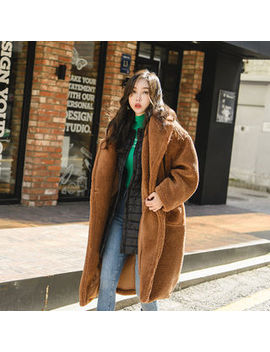 Uuzone   Oversized Faux Shearling Coat by Uuzone