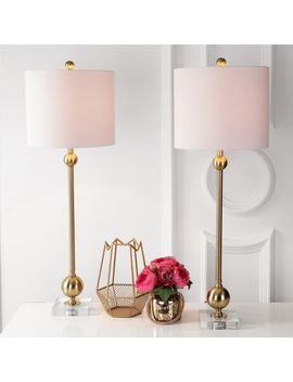 Modern Brass Table Lamp Set Of 2 by Pier1 Imports
