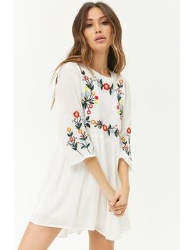Floral Embroidered Mini Dress by Forever 21
