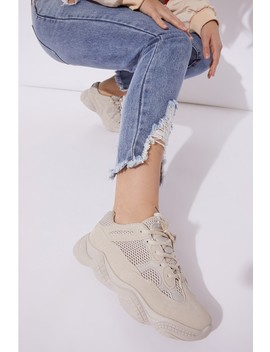 Beige Chunky Trainers by In The Style