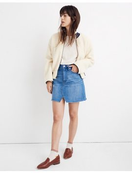Rigid Denim A Line Mini Skirt In Keene Wash: Cutout Edition by Madewell
