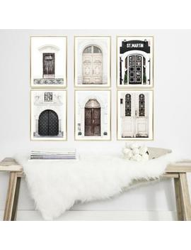 Travel Prints Set // Gallery Wall Art // Prague Doors // Set Of 6 // Neutral // Travel // Beige Photography Set // Travel Wall Art Gifts by Etsy