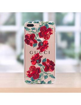 Gucci I Phone Xs Case Clear I Phone 8 Plus Case Floral Gucci I Phone Xs Max Case Floral I Phone Case Gucci I Phone Xr Case Inspired Gucci Florals by Etsy