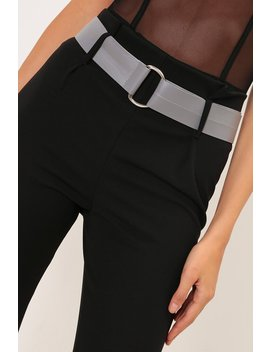 Grey Faux Leather Two Link Waist Belt by I Saw It First