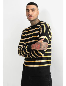 Stripe Crew   Trui by New Look