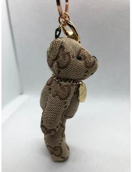 Handmade Designer Inspired Gucci Canvas Bear Charm by Etsy