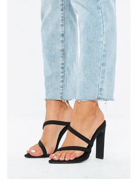 Black Pointed Toe Barely There Heels by Missguided