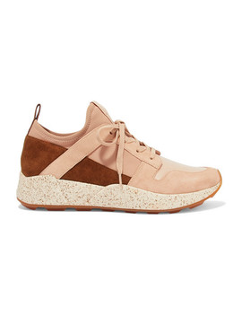 Galvin Suede, Leather And Neoprene Sneakers by Vince