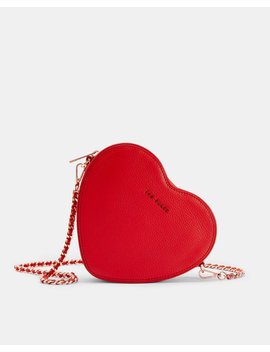 Heart Leather Cross Body Bag by Ted Baker