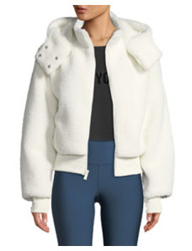 Foxy Sherpa Hooded Active Jacket by Alo Yoga