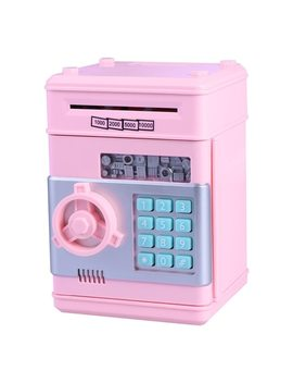 Deposit Box Children's Money Saving Bank Intelligent Voice Mini Safe And Coin Vault For Kids With Pass Code (Pink) by Ali Express