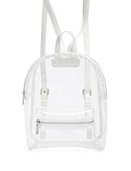 Transparent Zippered Backpack by Forever 21