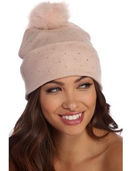 Cozy Heat Stone Knit Beanie by Windsor