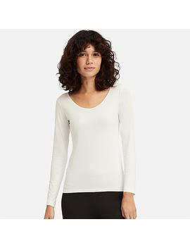 Women Ai Rism Uv Cut Scoop Neck Long Sleeve T Shirt by Uniqlo