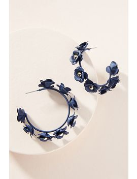 Autumnal Blooms Hoop Earrings by Anthropologie