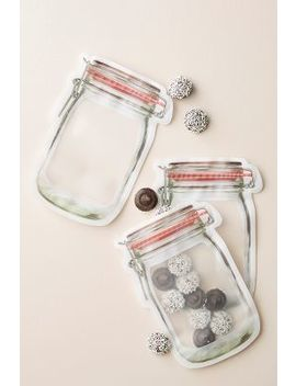 Kikkerland Mason Jar Zipper Bag Set by Anthropologie