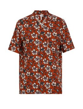Floral Print Short Sleeve Shirt by Loewe