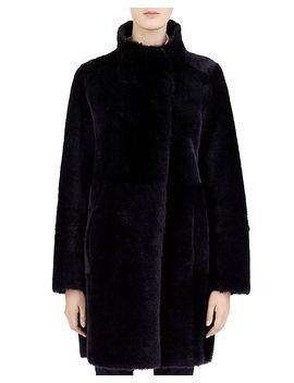 Milo Real Sheep Shearling Coat by Gerard Darel