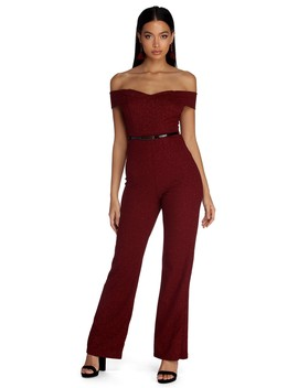 Style Knit With Sparkle Jumpsuit by Windsor