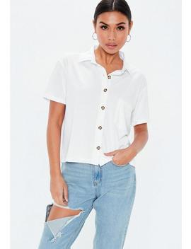 White Boxy Jean Grazer Shirt by Missguided