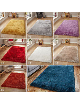 Small– Large Extra Thick Plush 8cm Deep Shaggy Pile Colourful Luxury Montana Rug by Ebay Seller