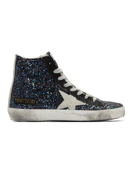 Multicolor Glitter Francy Sneakers by Golden Goose