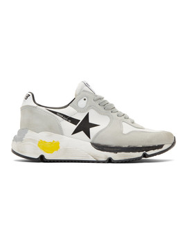 Grey Running Sole Sneakers by Golden Goose