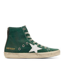 Green Francy Sneakers by Golden Goose