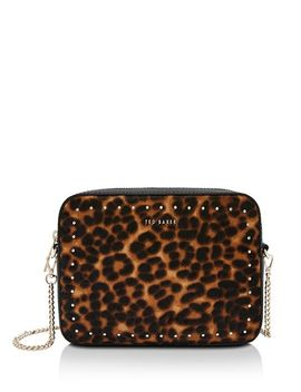 Savanna Leopard Micro Stud Crossbody by Ted Baker