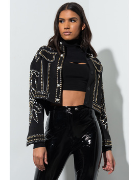 Shes A Wild One Studded Jacket by Akira