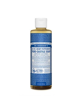 Dr Bronner's Organic Peppermint Castile Liquid Soap 236ml by Dr Bronner's