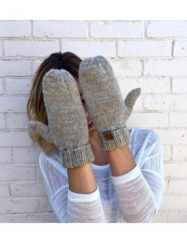 Classic Wool Knit Mittens | Knit Winter Mittens by Etsy