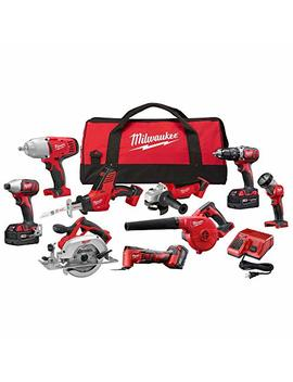 M18 18 Volt Lithium Ion Cordless Combo Tool Kit (9 Tool) With (3) 4.0 Ah Batteries, Charger And Tool Bag by Milwaukee