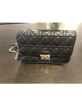 Authentic Christian Dior Wallet On Chain Soft Lamb Skin,Fit Iphone X by Dior