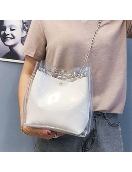 Sunsquared   Transparent Chained Shoulder Bag With Pouch by Sunsquared