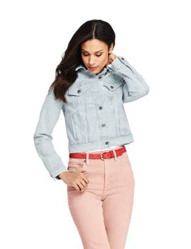 Women's Petite Denim Stripe Jacket by Lands' End