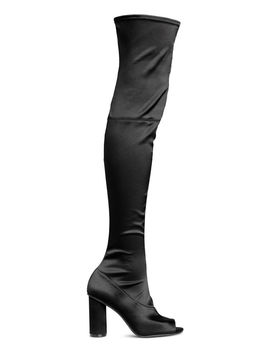 Satin Thigh High Boots by H&M