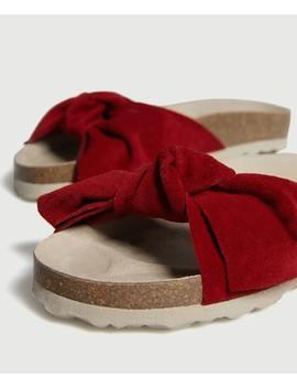 Замшевые сандалии by Oysho