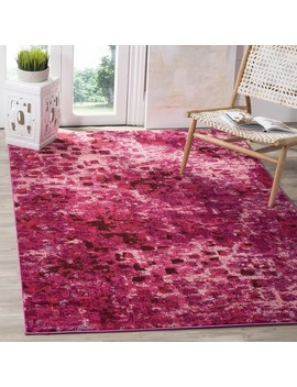 Safavieh Monaco Abstract Watercolor Fuchsia Distressed Rug by Safavieh