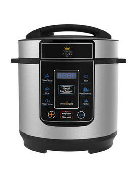Pressure King Pro 3 L Digital Pressure Cooker, Black/Chrome by High Street Tv