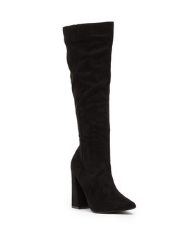 Steph Block Heel Tall Boot by Lost Ink
