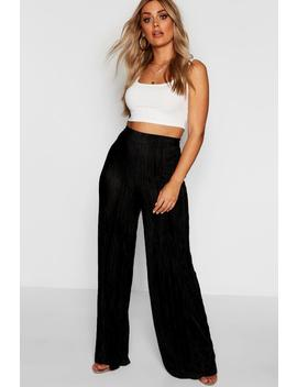Plus Wide Leg Pleated Trouser by Boohoo