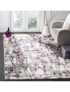 Safavieh Skyler Vintage Geometric Grey / Purple Rug by Safavieh